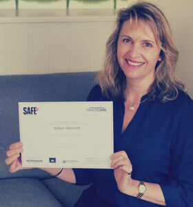 Robyn becoming a SafePlus Accredited Assessor